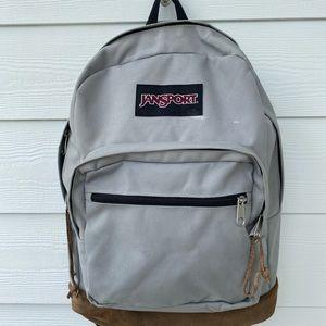 Jansport suede backpack